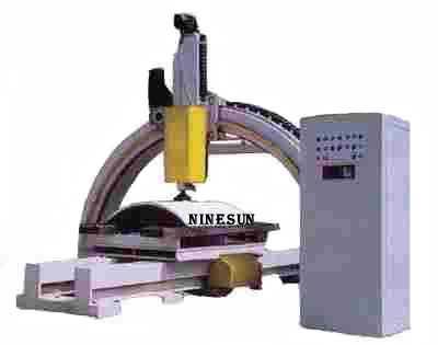 polishing machine for column slab